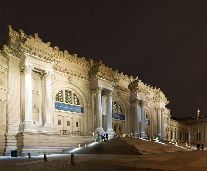 Metropolitan Museum of Art- Night Time Facade Indiana Limestone