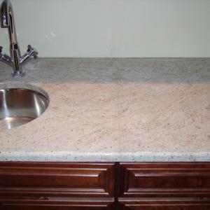 Ivory Tan Granite Counter Bar Area