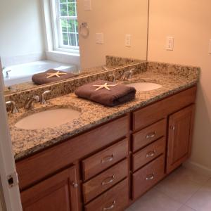 Santa Cecilia Light Granite Vanity Countertop